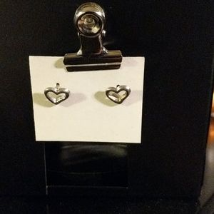 Vintage Y2K 90s heart earrings